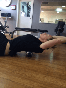 Thoracic Extension Over Roller